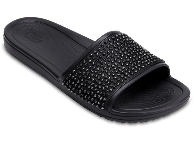 Crocs Sloane Embellished Slides-sandaali Naiset, black/black